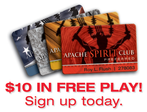 apache spirit club card free play