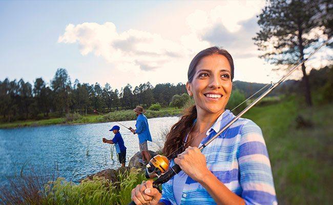 fishing at lake mescalero
