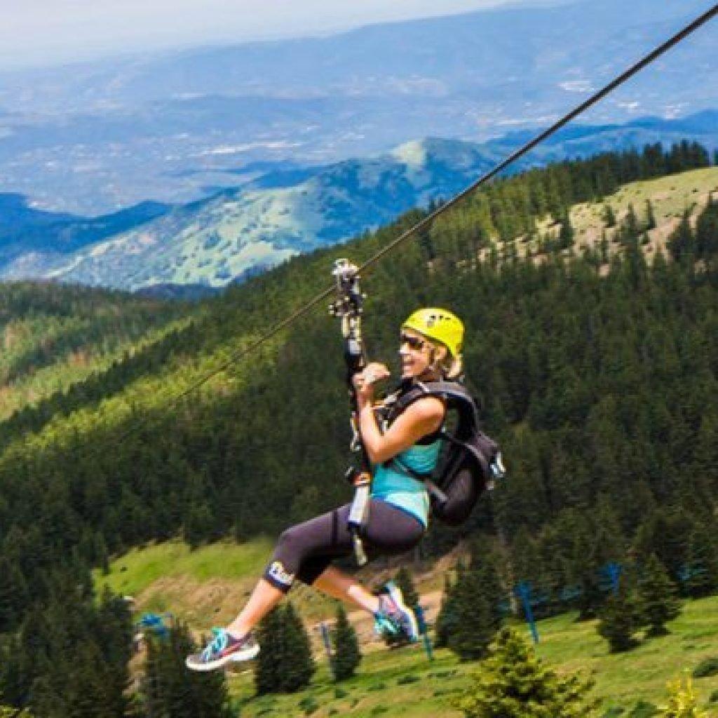 ski apache zip line