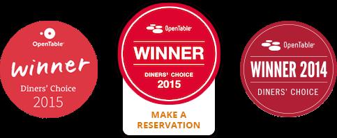 Wendell's award winning dining awards