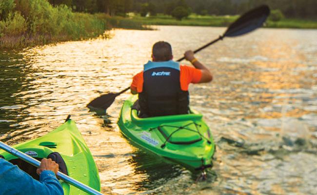 kayaking at Lake Mescalero