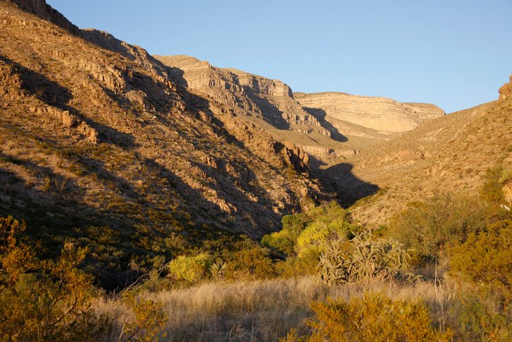 dog canyon at sunset