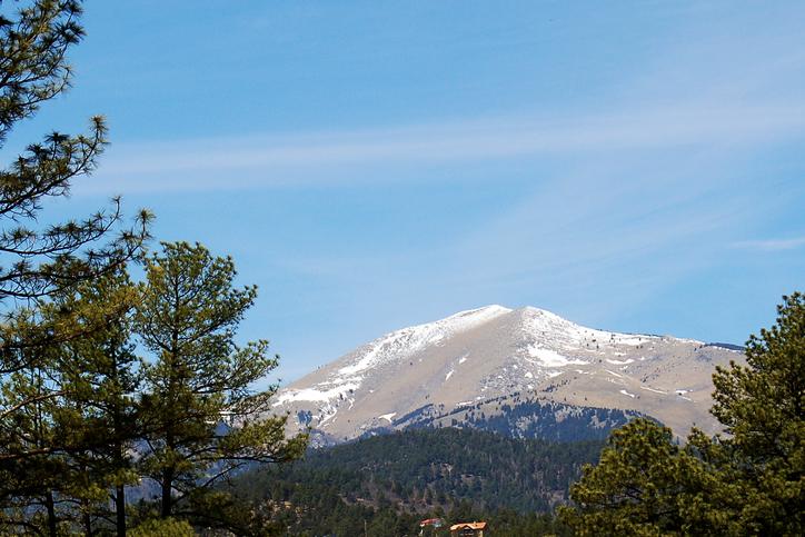 sierra blanca peak at ski apache