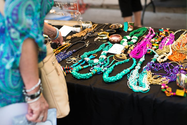 jewelry on display at an art festival