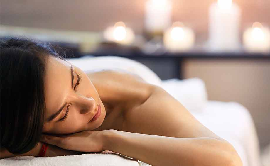 woman relaxed at a spa