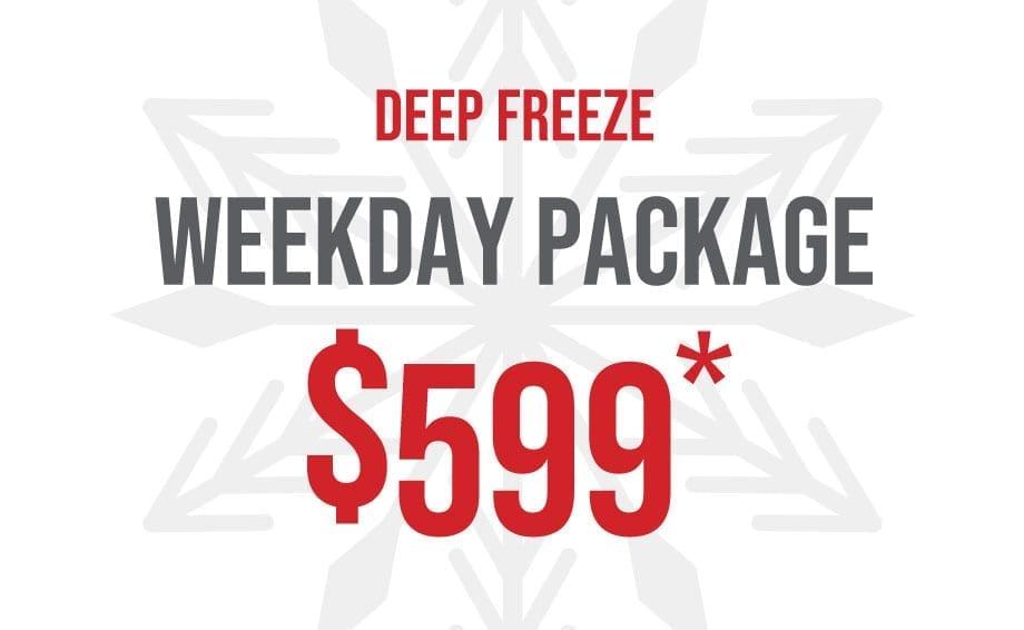 2 Night Weekday Ski Package for 2