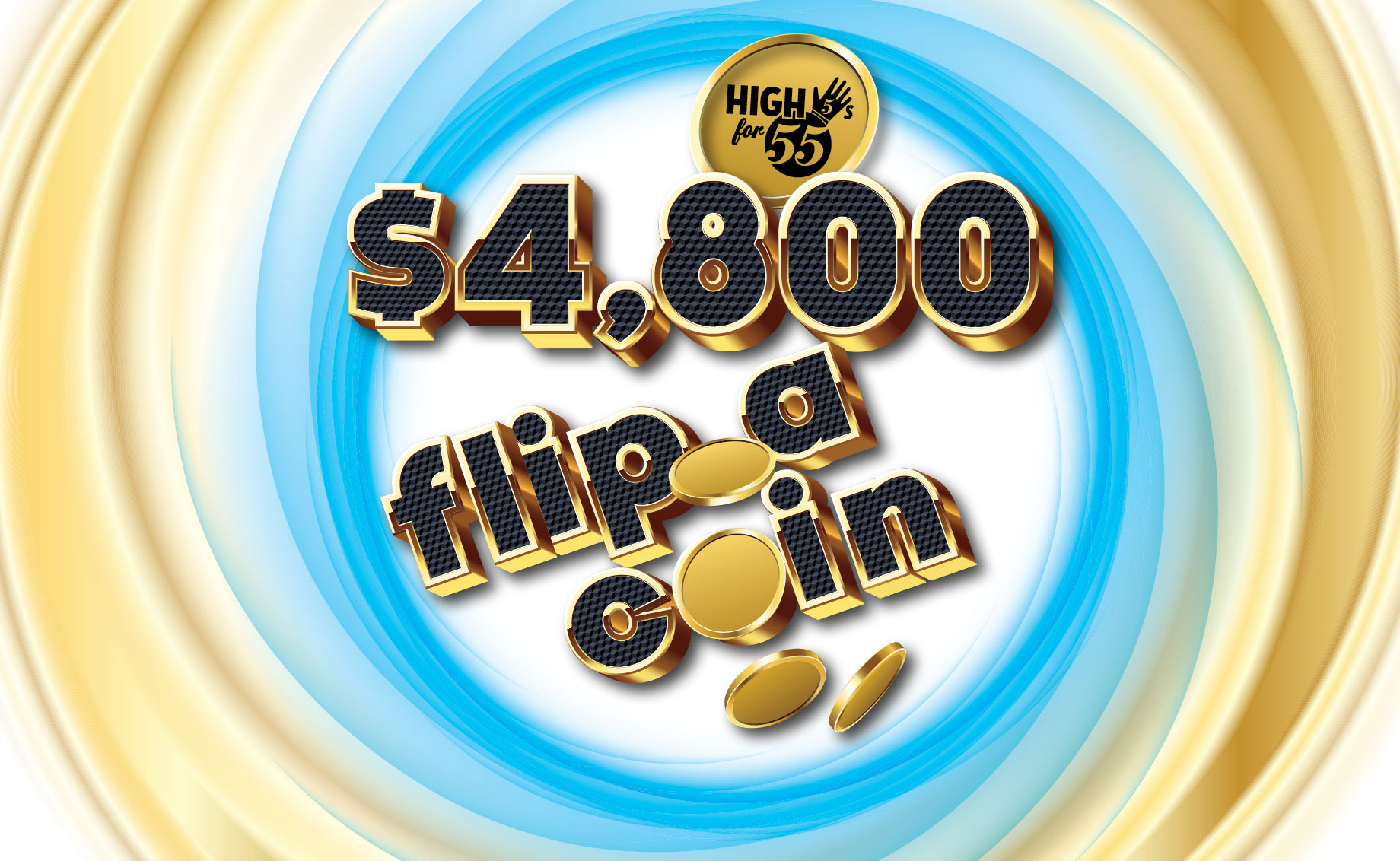 High 5's for 55 – $4,800 Flip a Coin