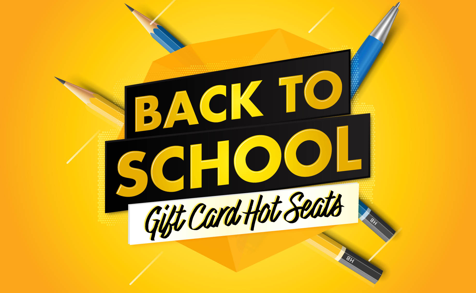 Back to School Gift Card Hot Seats