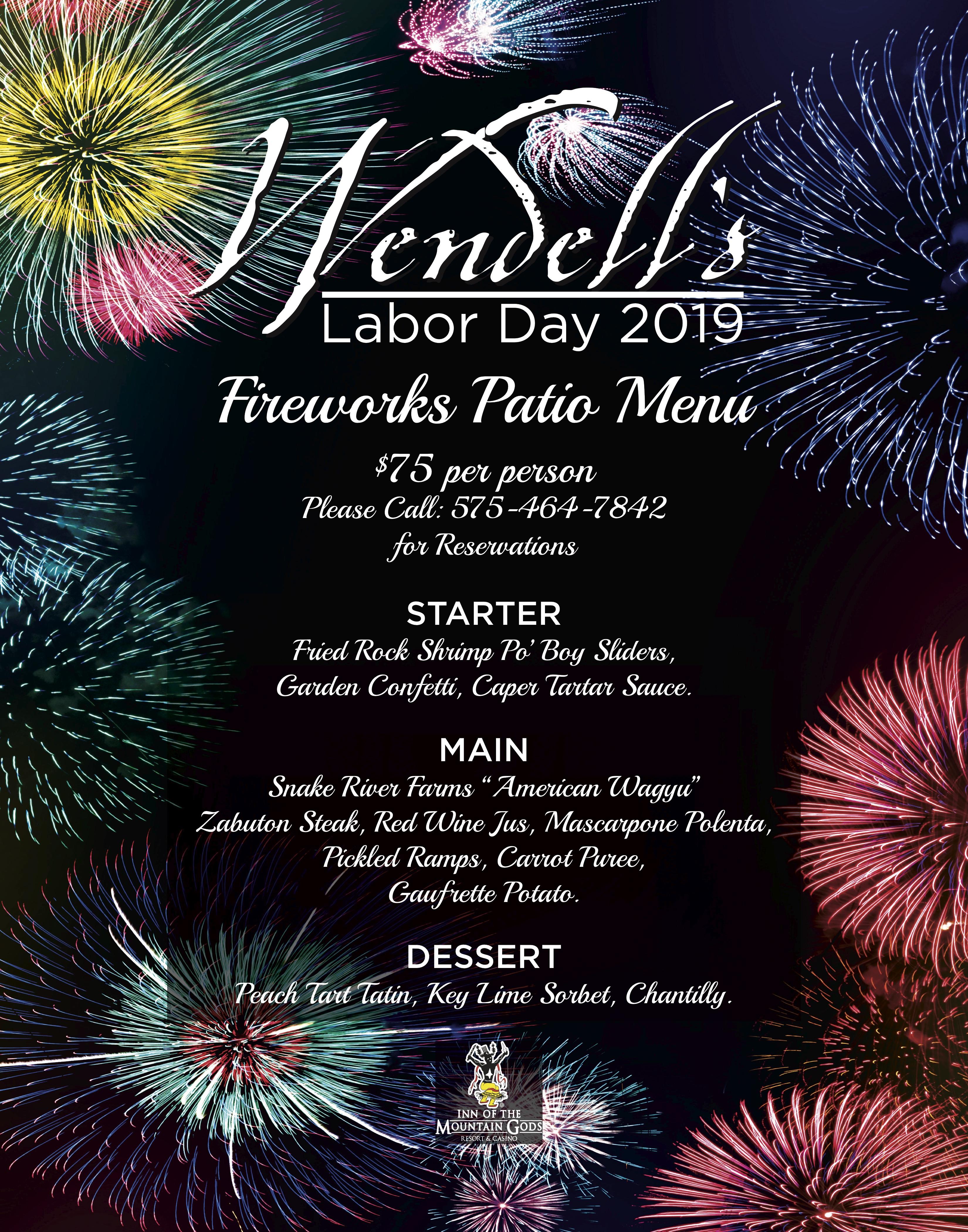 wendells menu