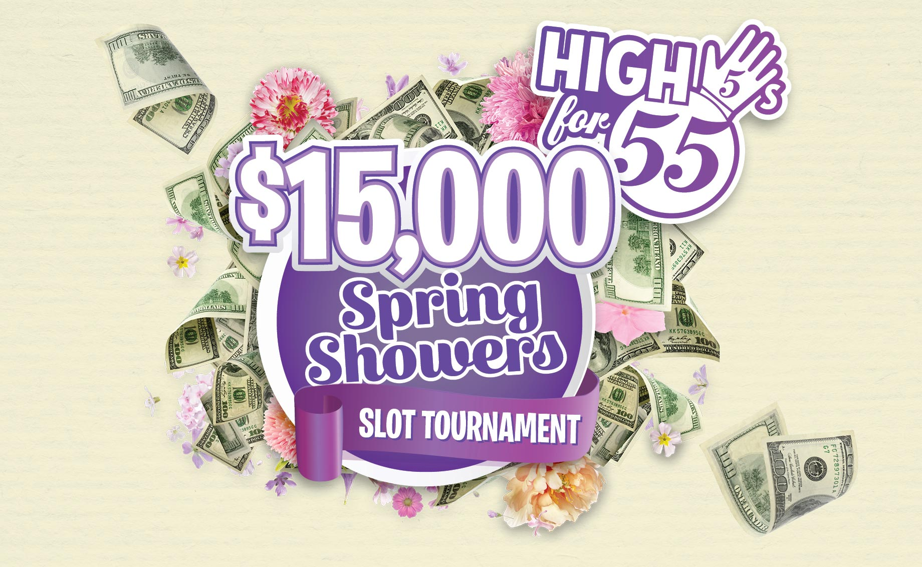 $15,000 Spring Showers Slot Tournament