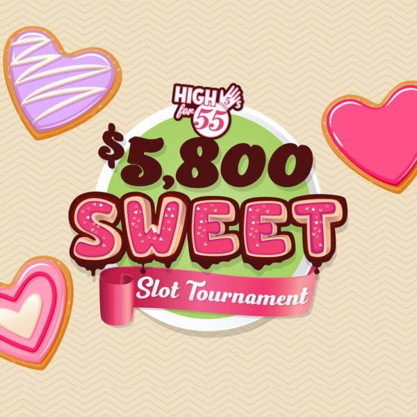 High 5s for 55s – Sweet Slot Tournament