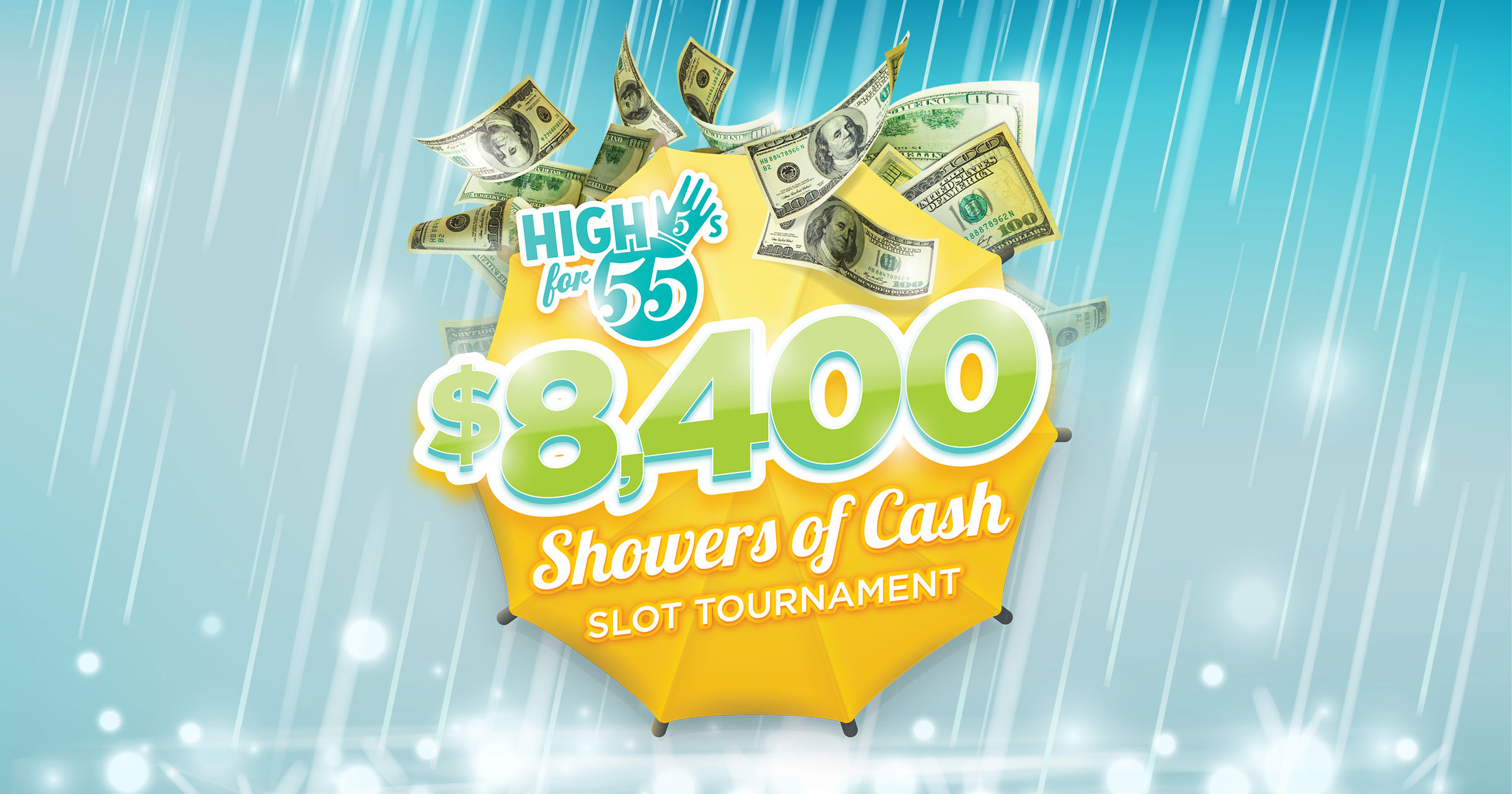 High 5s for 55s – Showers of Cash Slot Tournament