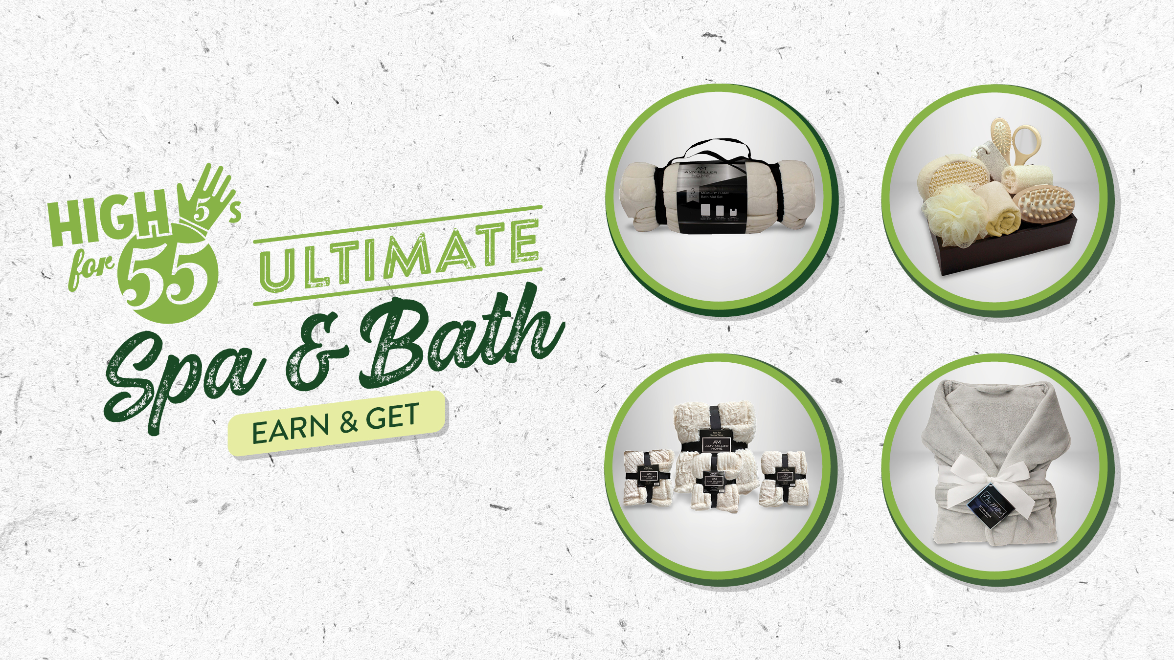 High 5s for 55s - Ultimate Spa & Bath Earn & Get