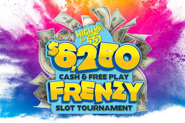 High 5s for 55s – Cash and Free Play Frenzy Slot Tournament