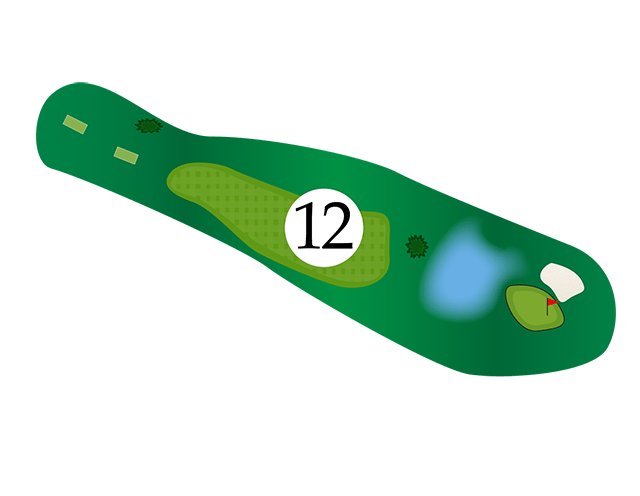 Inn of the Mountain Gods Hole 12 Diagram