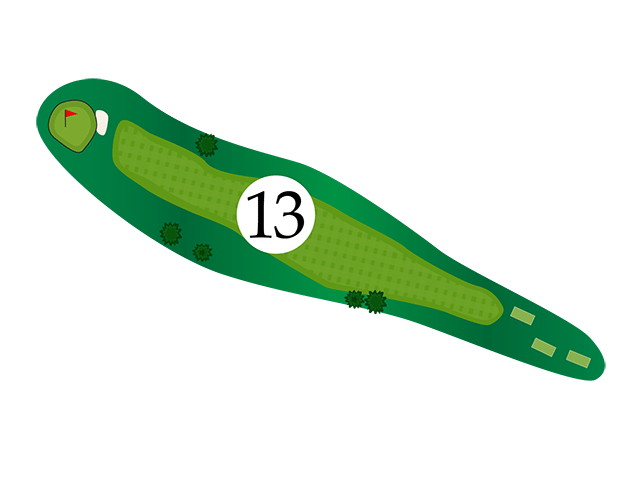 Inn of the Mountain Gods Hole 13 Diagram