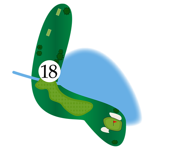 Inn of the Mountain Gods Hole 18 Diagram